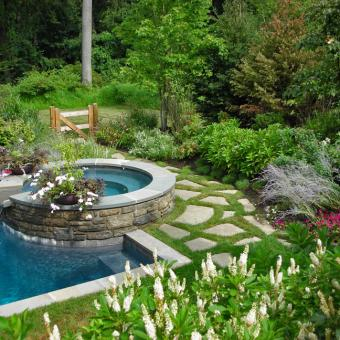 Swimming pool garden design inc for Garden pool from bathtub