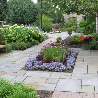 Flagstone_landscape_patio_allentown Pa; Flagstone Patio_allentown;  Rectangular Formal Flagstone Patio ...