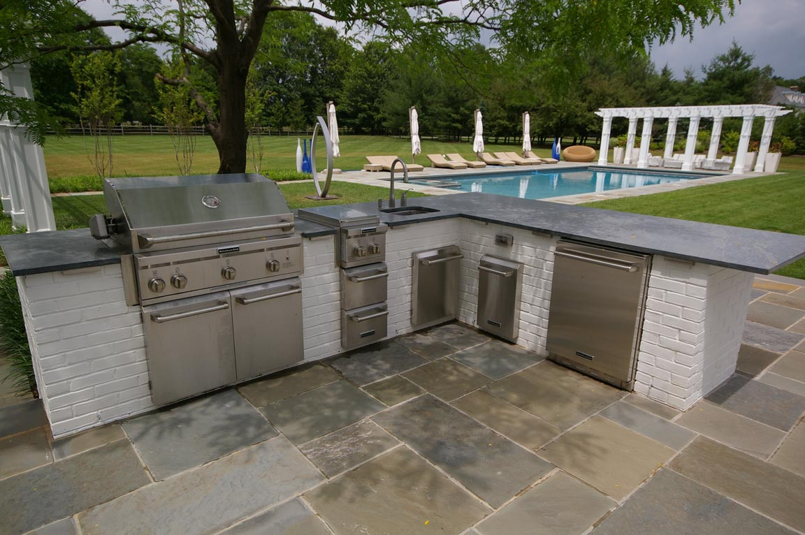 Granite For Outdoor Kitchen Outdoor Kitchen Archives Garden Design Inc