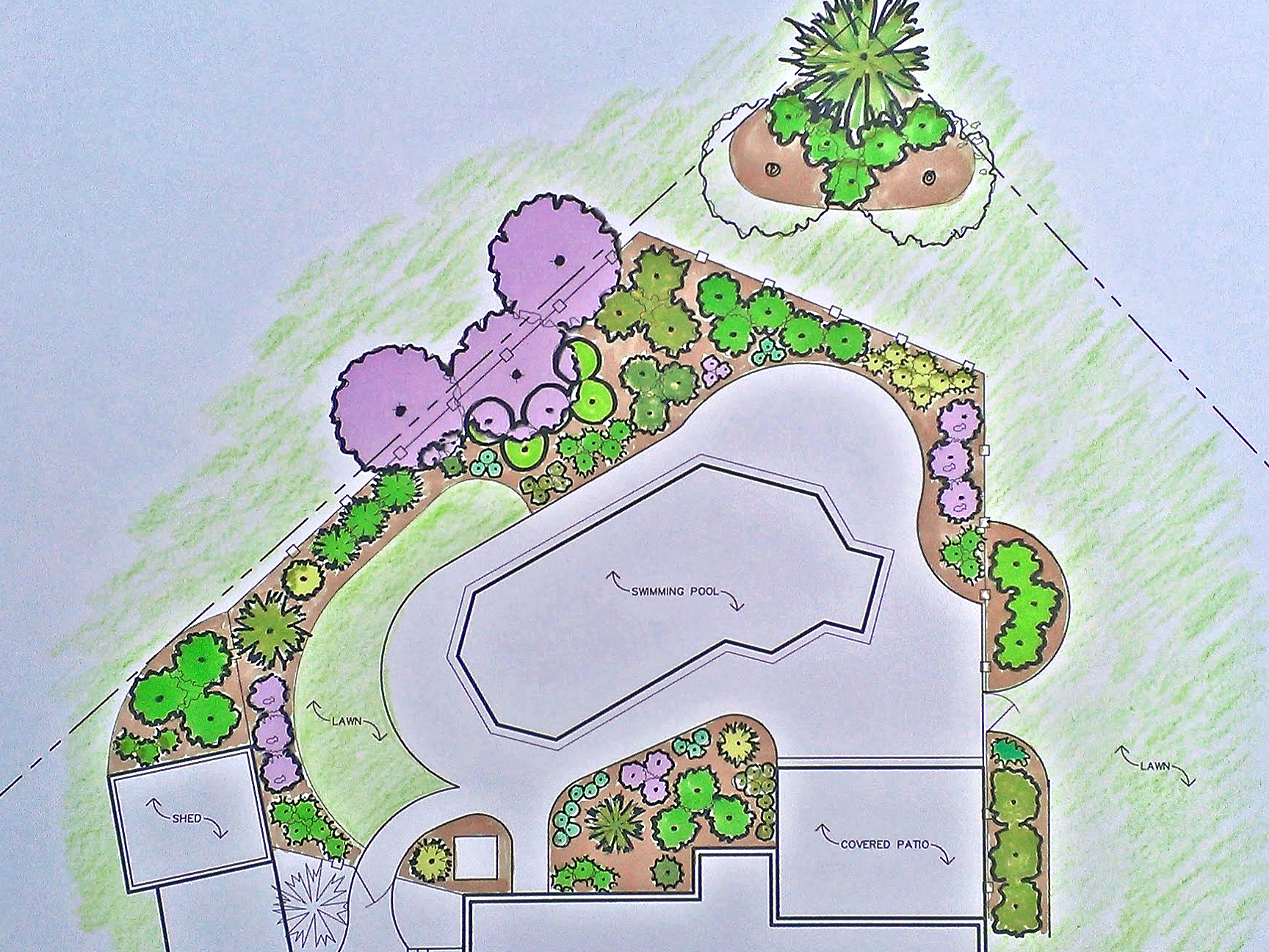Pool Area Landscaping Plan
