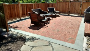 natural brick patio landscaping