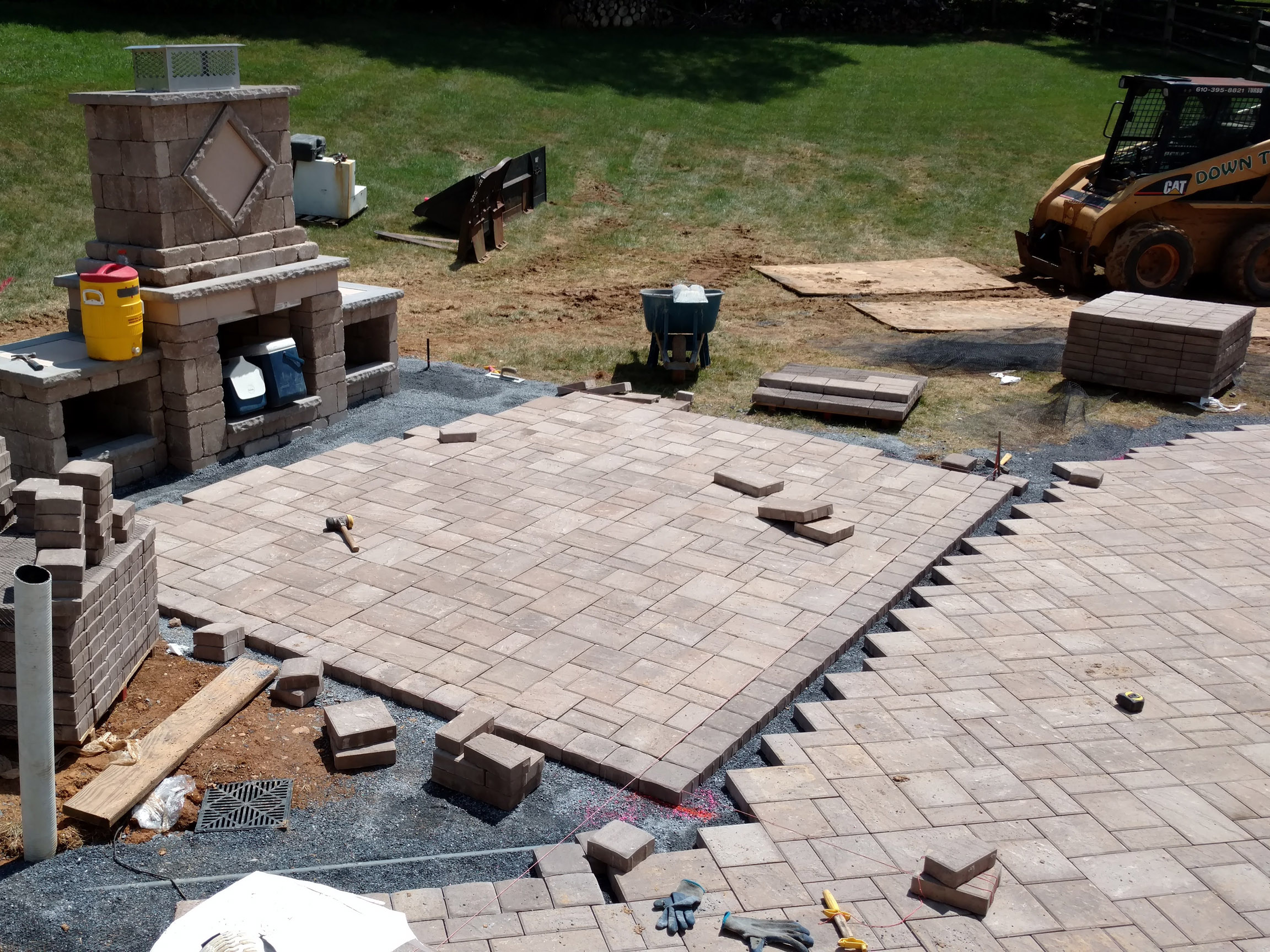 patio portland brick hardscape pavers patios concrete