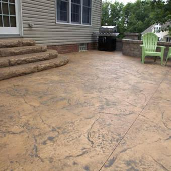 Superior ... Textured Concrete Patio And Steps   Allentown ...
