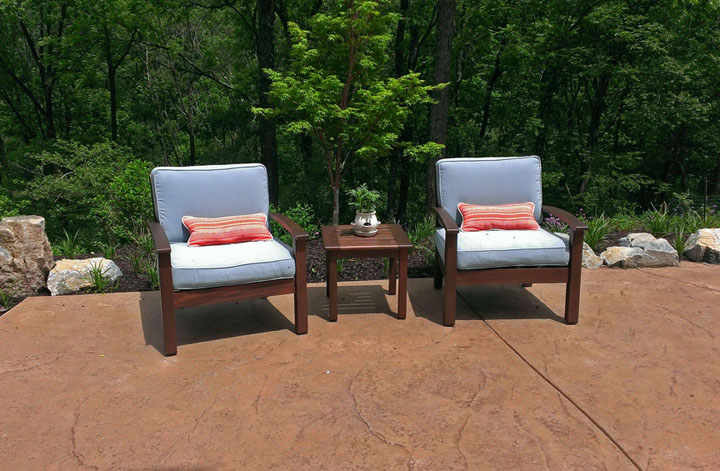 Stamped Concrete Patio Patio Furniture Landscaping