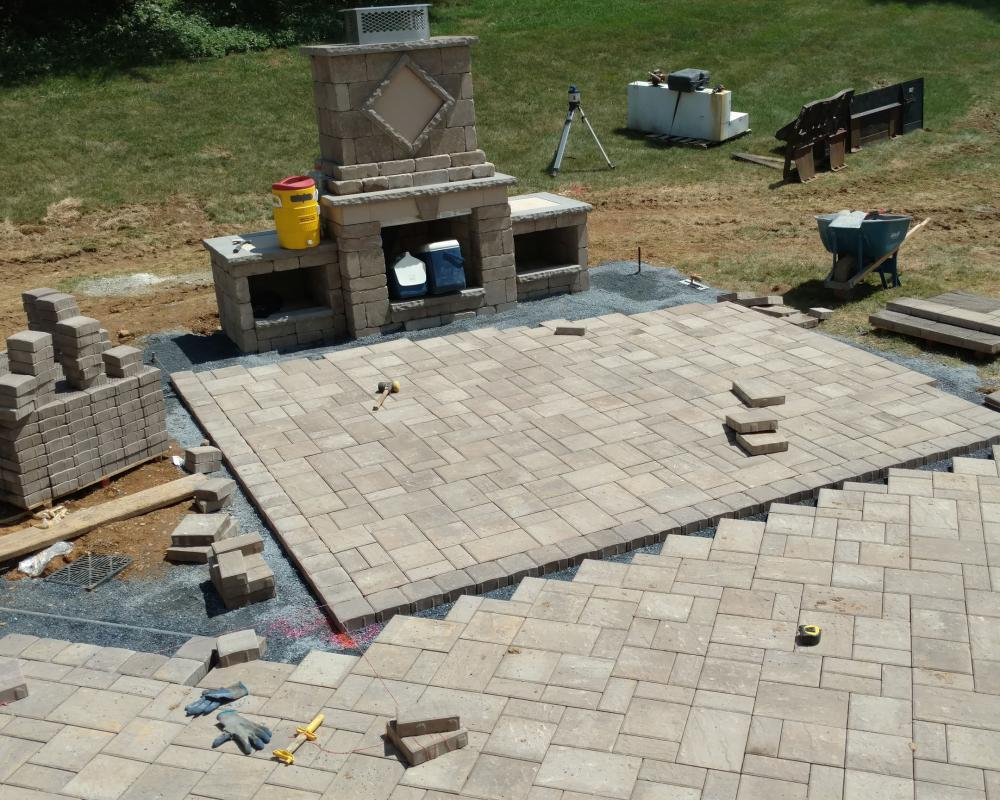 Techo bloc patio construction for Techo bloc