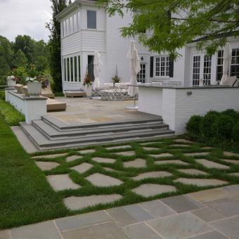 Formal Flagstone, Natural Stone Patio