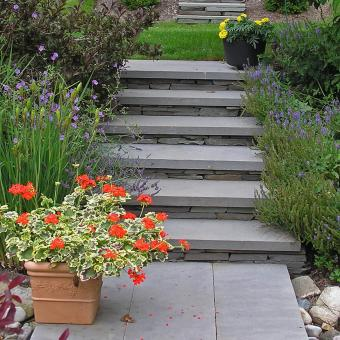 stone steps landscaping