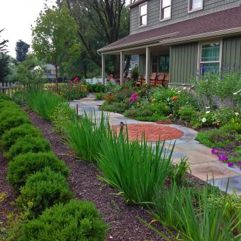 front of house landscape planting design