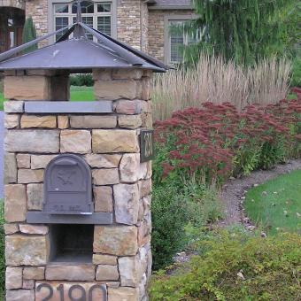 Mailbox with Landscaping
