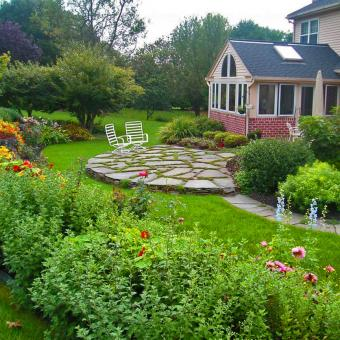 shrubs and tree landscape planting design