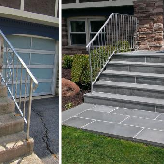 step overlay with stone