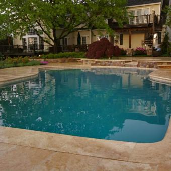 Swimming Pool with Travertine