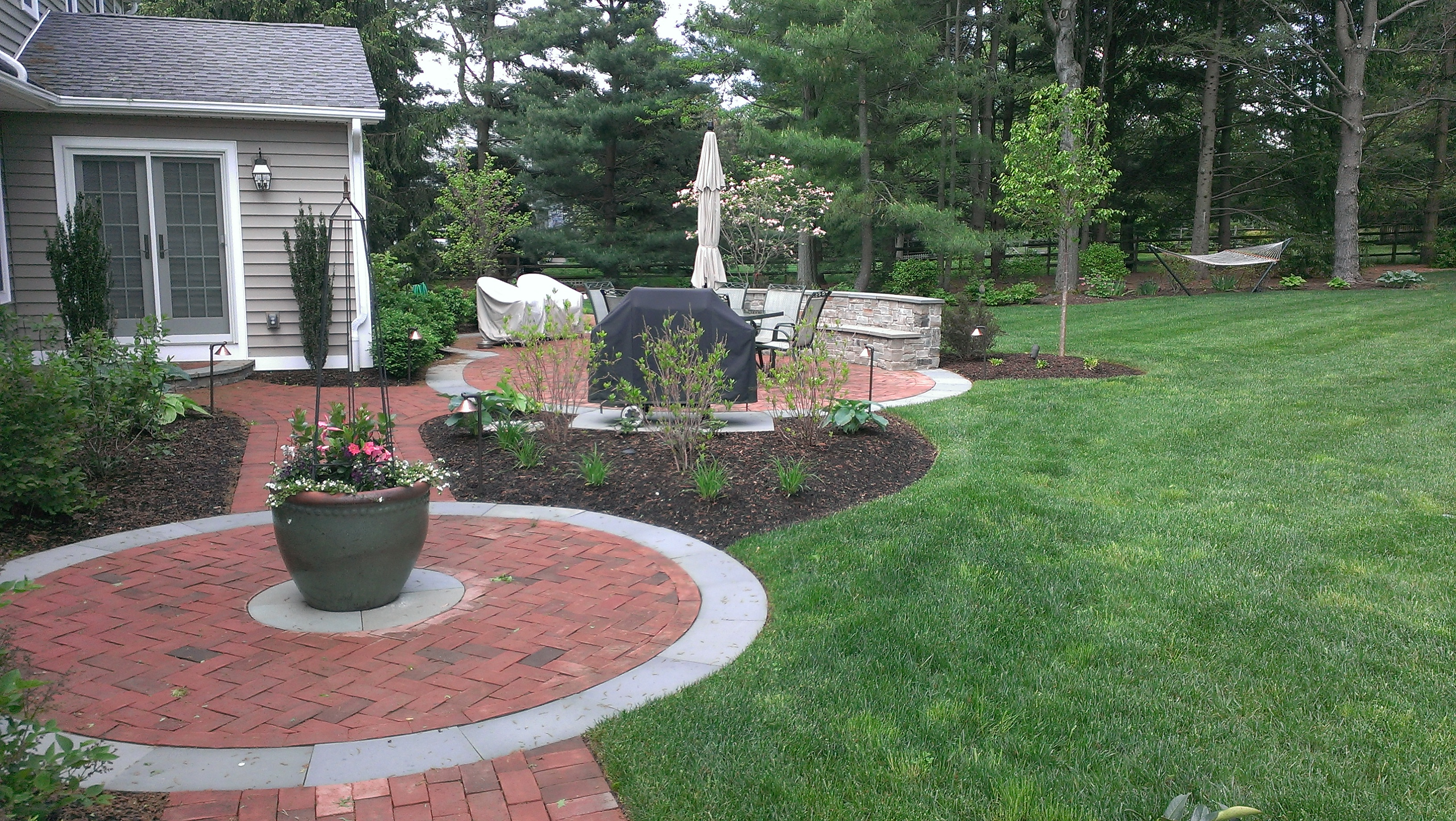 paver walkways Archives - Garden Design Inc. on Red Paver Patio Ideas id=85273